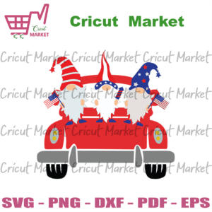 4th of july gnomes with red truck svg, independence day svg, 4th of july svg, gnomes svg, gnomes gifts, love gnomes, america gnomes svg, gnomes truck, red truck svg, patriotic svg, america flag, independence day gift