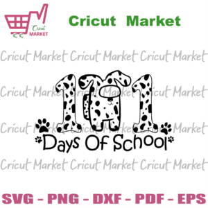 101 Days Of School Among Us Dalmation Svg, Back to school svg files for cricut, PNG Silhouette Sublimation files Instant Download