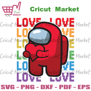 Valentine Among Us Svg, Valentine Svg, Valentine Impostor, Red Impostor Svg, Among Us Svg, Love Among Us Svg, Heart Impostor Svg, Impostor Love Svg, Impostor With Heart