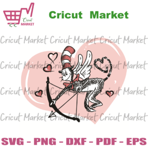 Valentines Day Dr Seuss Cat In The Hat SVG, Valentine Svg, Cupid Svg, Cat In The Hat Svg, Dr Seuss Svg, Cupid Cat In The Hat Svg, Love Svg, Cat In The Hat Gifts Svg, Love Gifts Svg, Valentine Day Svg, Valentine Gifts Svg, Valentine Cricut