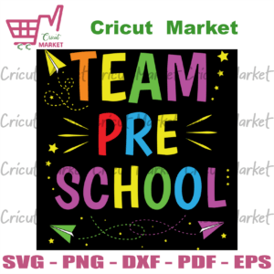 Team Preschool Preschool Svg, Happy 100th Day Of School, Back to school svg files for Cricut, Vinyl, png Silhouette Sublimation Instant Download