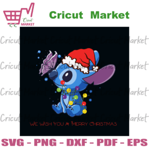We Wish You A Merry Christmas Stitch, Christmas Svg, Christmas Stitch Glass, Merry Christmas, Gifts Stitch Vector, Blue Stitch Lover, Stitch Shirt Svg, Christmas Snowflakes, Disney Gift For Kids, Christmas Party