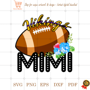 Vikings Football Mimi Gift Diy Crafts Svg Files For Cricut, Silhouette Sublimation Files