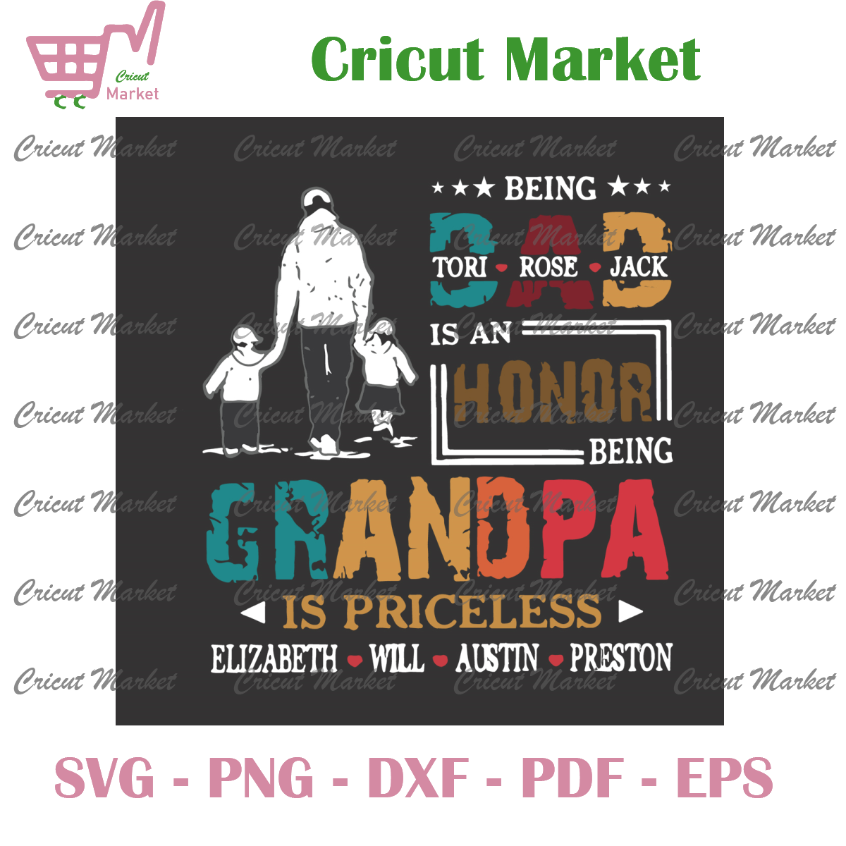 Being Dad Is An Honor Svg, Fathers Day Svg, Grandpa Is Priceless Svg