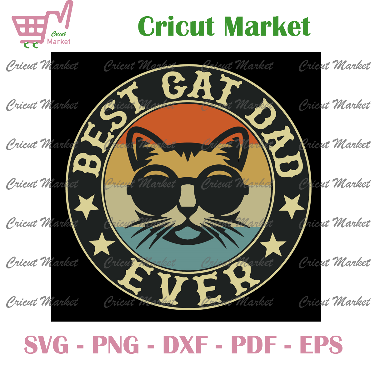 Best Cat Dad Ever Svg, Fathers Day Svg, Daddy Svg, Dad Svg
